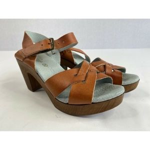 Eric Michael Women's Size 37 Brown Leather Sandals